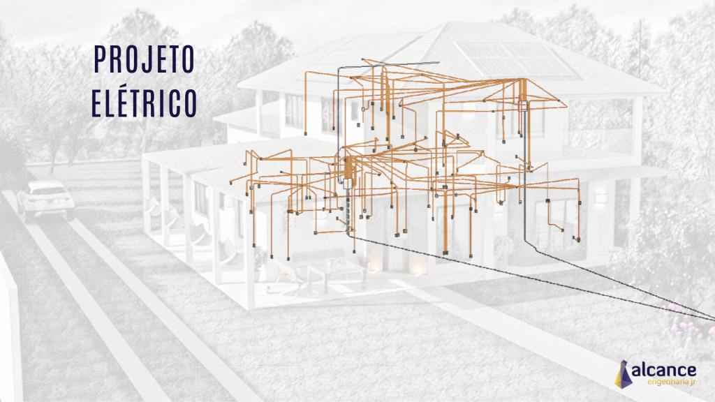 Projeto Elétrico - vista 3D