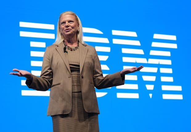 Ginni Rometty, CEO da IBM. Imagem: Getty Images.