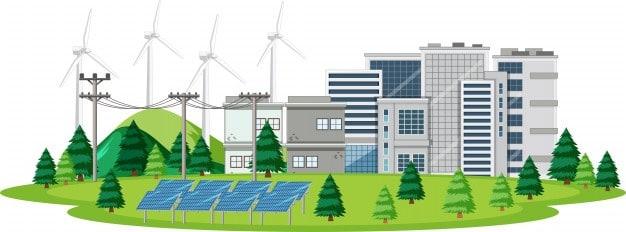 cidade com energia limpa
